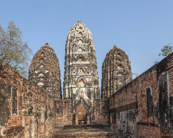 Photograph - Wat Si Sawai Prangs Dthst0061 by Gerry Gantt