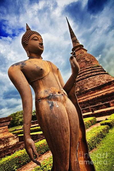 Photograph - Wat Sra Sri In Sukhothai Thailand Southeast Asia by Sam Antonio
