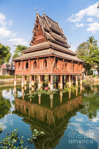Photograph - Wat Thung Si Muang In Ubon Ratchatani In Thailand by Didier Marti