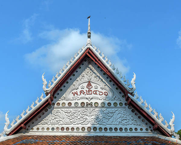 Photograph - Wat Tsai Little Ubosot Gable Dthb1665 by Gerry Gantt