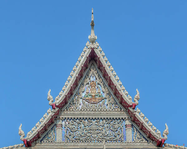 Photograph - Wat Tsai Phra Ubosot Gable Dthb1658 by Gerry Gantt