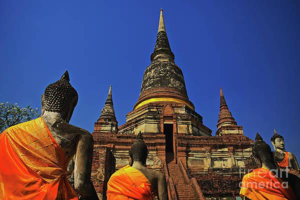 Photograph - Wat Yai Chai Mongkol In Ayutthaya, Thailand by Sam Antonio Photography