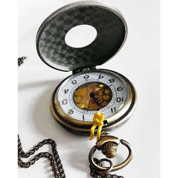 Steampunk Wall Art - Photograph - #watch #clock #time #vintage #steampunk by Michele Stuppiello