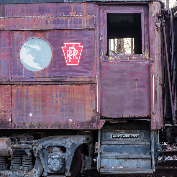 Photograph - Watch Your Step Vintage Railroad Car by Terry DeLuco