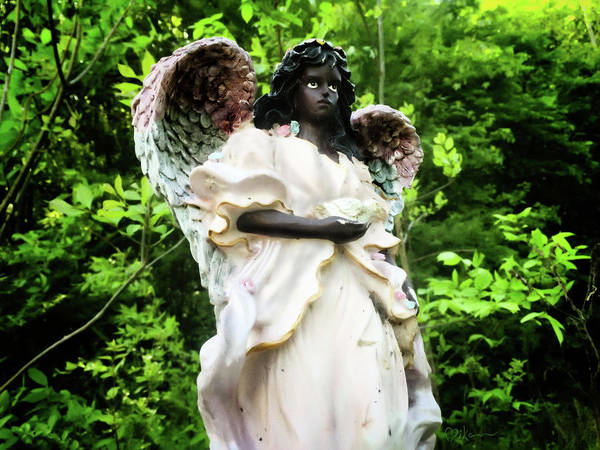 Photograph - Watcher Angel by Miko At The Love Art Shop