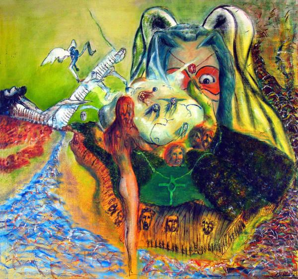 Gabriel Painting - Watcher Of The Skies by Albert Puskaric