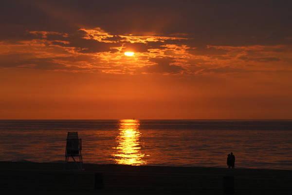 Photograph - Watching An Orange Sunrise by Robert Banach