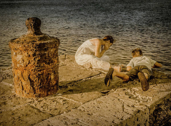 Photograph - Rhodes, Greece - Watching Fish by Mark Forte