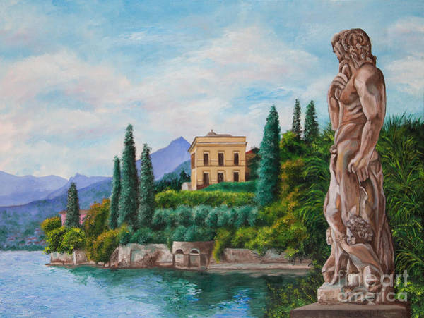 Lake Como Painting - Watching Over Lake Como by Charlotte Blanchard