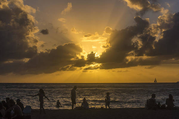 Photograph - Watching Sunset by Alex Lapidus