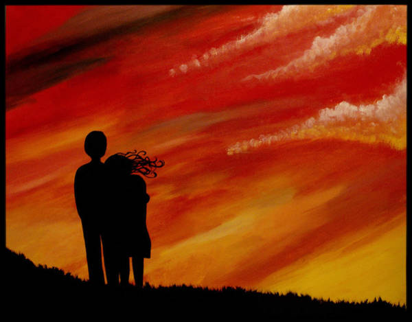 Wall Art - Painting - Watching The Clouds Dance by Alycia Ryan