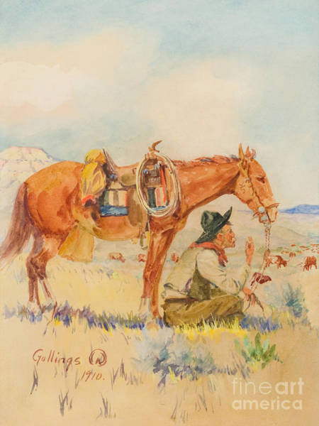 Painting - Watching The Herd by Celestial Images