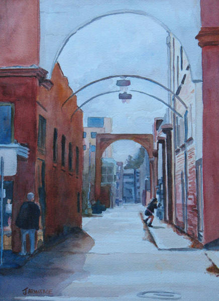 Archway Painting - Watching The Photographer by Jenny Armitage