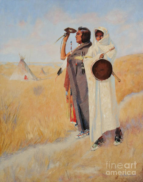Painting - Watching The Plains by Celestial Images