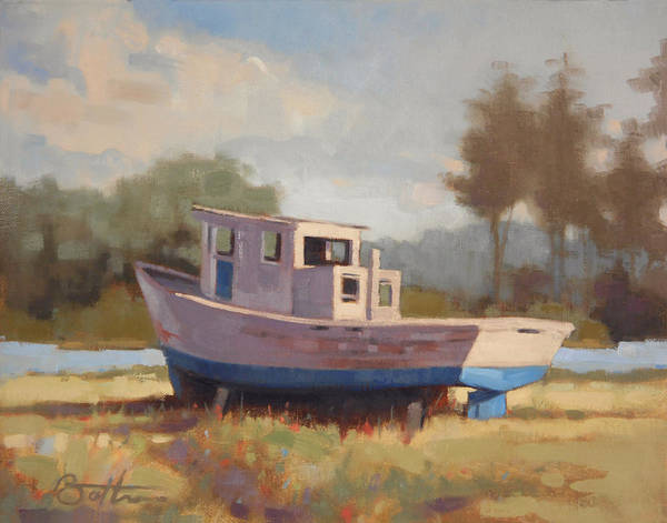 Dry Painting - Watching The River Flow by Todd Baxter