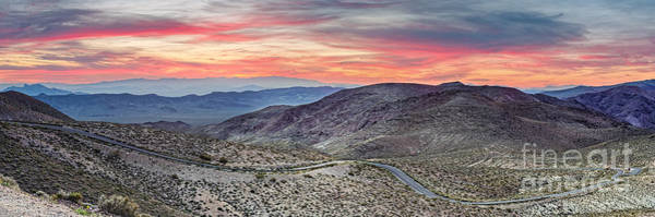 Furnace Creek Photograph - Watching The Sunrise From Dante's View - Black Mountains Death Valley National Park California by Silvio Ligutti