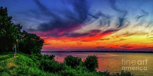 Photograph - Watching The Sunset At Riverwinds by Nick Zelinsky