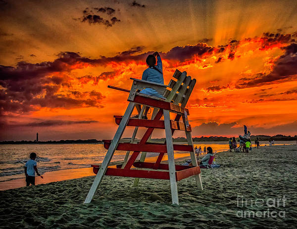 Wall Art - Photograph - Watching The Sunset From The Stand by Nick Zelinsky