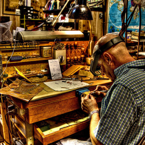 Hdr Wall Art - Photograph - Watchmaker by William Wetmore