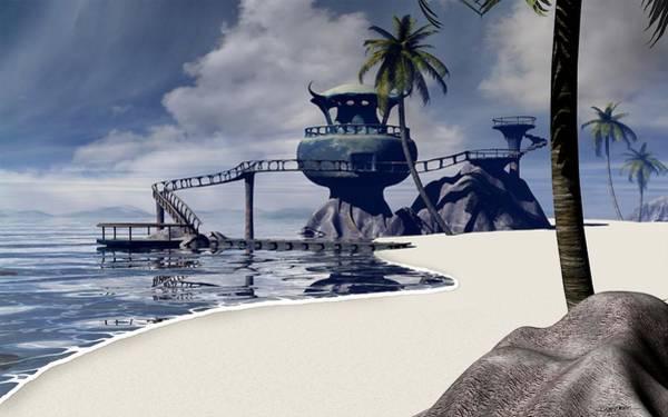Lagoon Digital Art - Watchtower Beach by Cynthia Decker