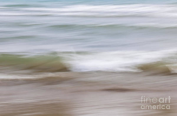 Photograph - Water And Sand Abstract 4 by Elena Elisseeva
