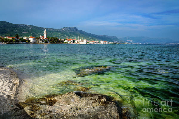Photograph - Water And Towns Of Kastela, Dalmatian Coast, Croatia by Global Light Photography - Nicole Leffer