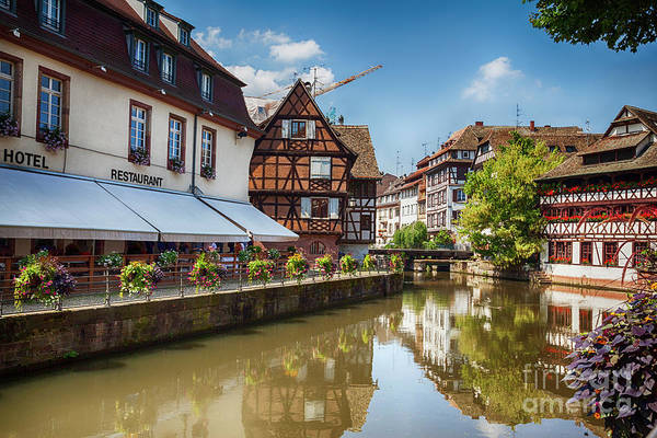Photograph - water canal in Strasbourg, France by Ariadna De Raadt