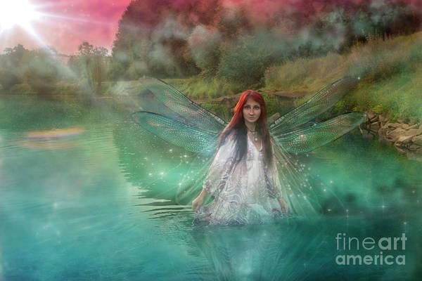 Wall Art - Digital Art - Water Fairy by Angel Ciesniarska