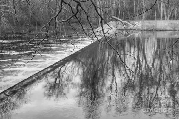 Photograph - Water Flowing Over Dam In Wayne New Jersey by Christopher Lotito