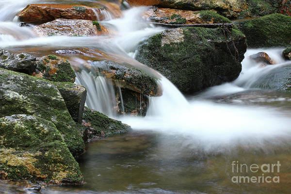 Wall Art - Photograph - Water Flowing Over Rocks - Long Exposure by Michal Boubin
