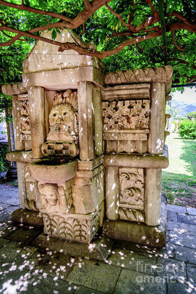 Photograph - Water Fountain At Solin, Ancient Illyrian And Roman Ruins Near Split, Croatia by Global Light Photography - Nicole Leffer