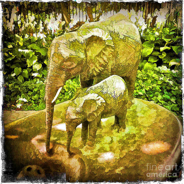 Photograph - Water Fountain At The Lincoln Park Zoo by Eleanor Abramson
