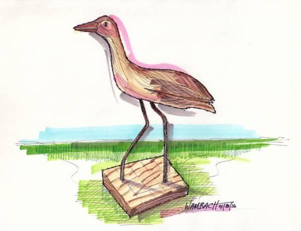 Drawing - Water Fowl Motif #5 by Richard Wambach