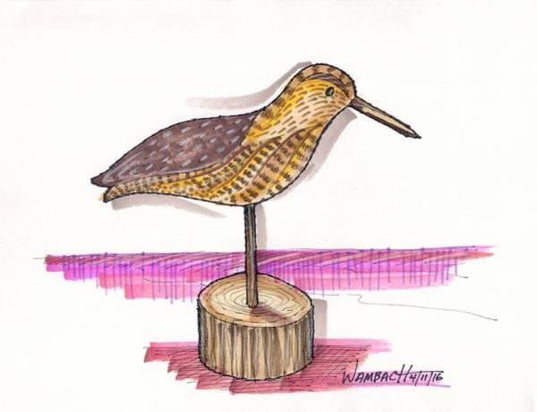 Drawing - Water Fowl Motif #6 by Richard Wambach