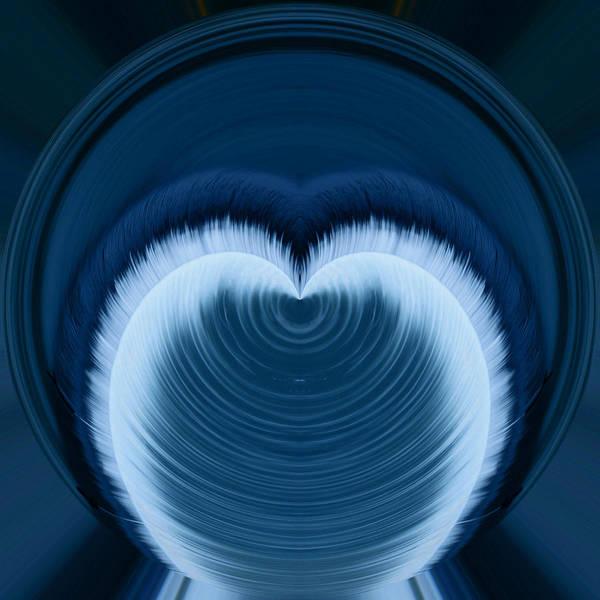 Little Planet Digital Art - Water Heart by Michael Kinney