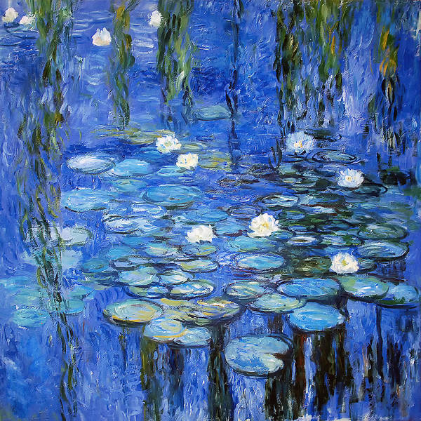 Water Lilies Photograph - water lilies a la Monet by Joachim G Pinkawa