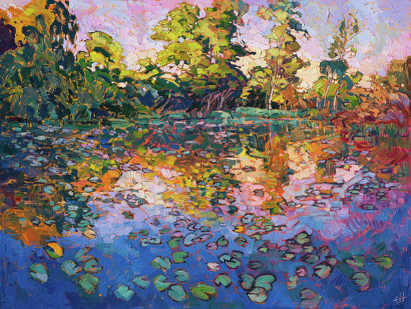 Simon Wall Art - Painting - Water Lilies by Erin Hanson