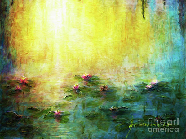 Wall Art - Painting - Water Lilies Impressionism by Jerome Stumphauzer