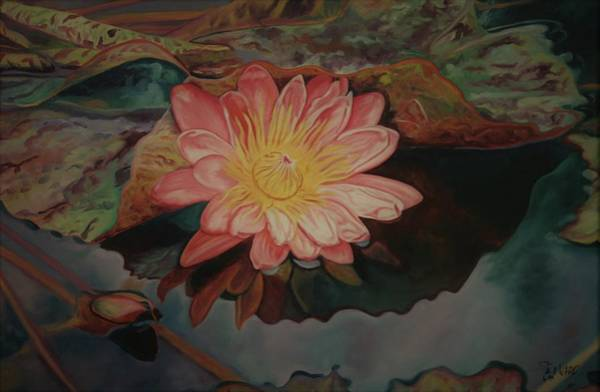 Painting - Water Lily 94 by Steven Ward