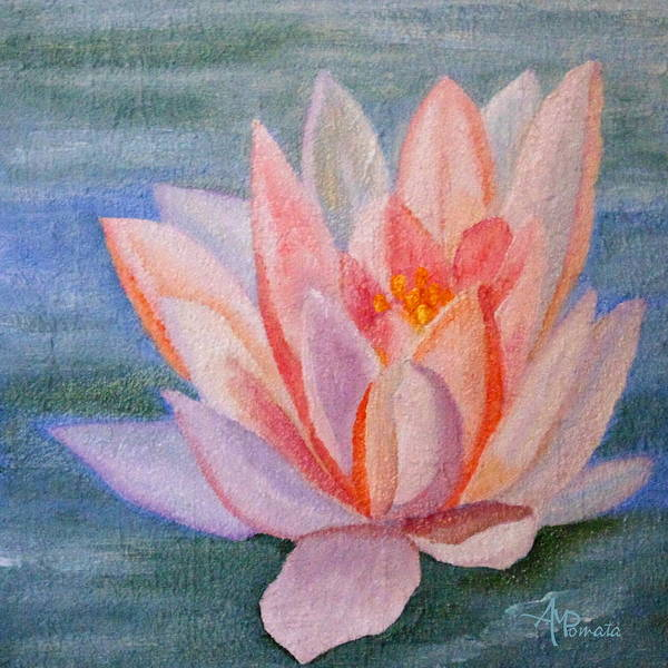 Painting - Water Lily by Angeles M Pomata