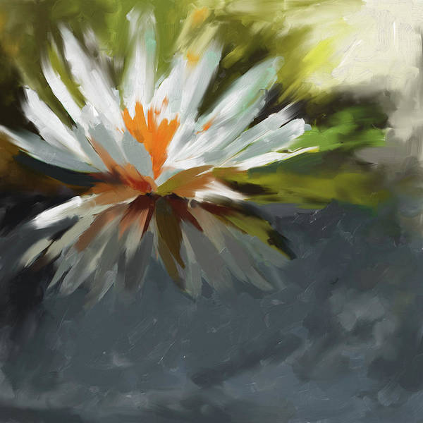 Wall Art - Painting - Water Lily II by Mawra Tahreem