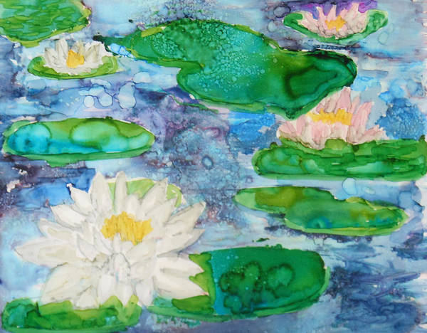 Painting - Water Lily by Pam Halliburton