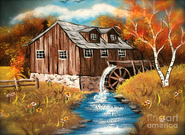 Wall Art - Photograph - Water Mill Painting by Heinz G Mielke