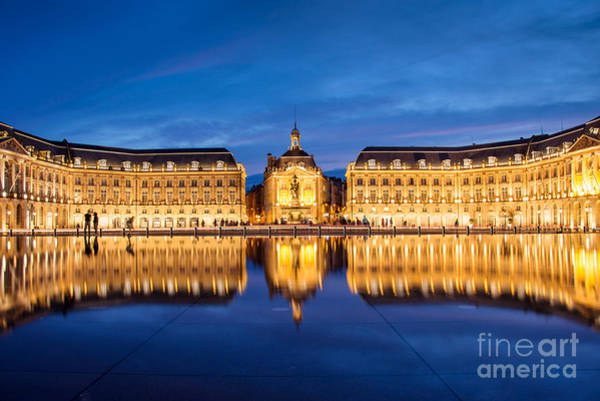 Bordeaux Wall Art - Photograph - Water Mirror by Delphimages Photo Creations