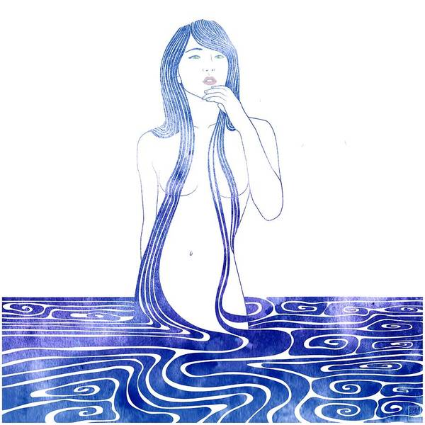 Watercolor Mixed Media - Water Nymph C by Stevyn Llewellyn