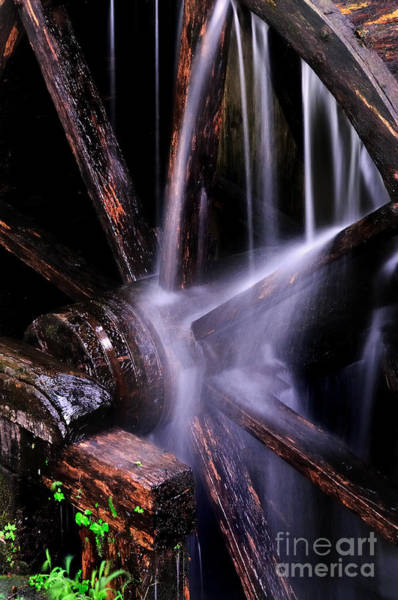 Photograph - Water Over The Cable Mill Wheel by T-S Fine Art Landscape Photography