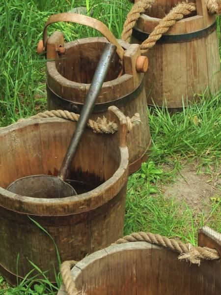 Photograph - Water Pails by Vincent Green