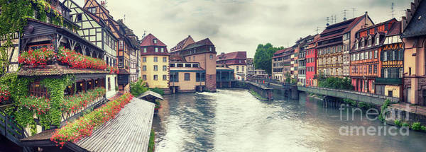 Photograph - water panorama in Strasbourg  by Ariadna De Raadt