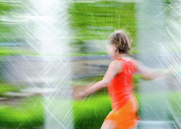 Photograph - Water Park In The Summer by Tom Potter