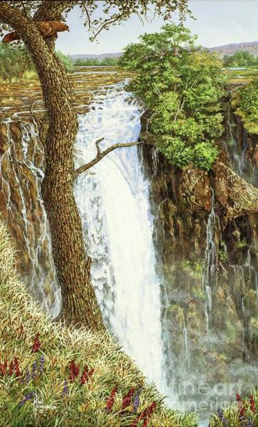 Victoria Falls Painting - Water Power-vict. Falls-part One by Paul Henderson